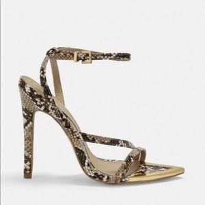 Missguided Snake Print heels